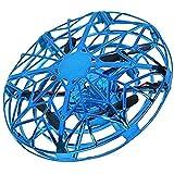 Qinmo Drone à Main for Adultes Enfants - Mini-Drone for Les Enfants Volant Boule Drone avec la lumière LED vol d'intérieur Boule de détection Obstacle Drone for Les Enfants Cadeau ( Color : Blue )