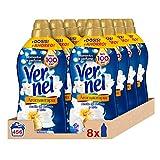 Vernel Suavizante Aromaterapia Aceite de Jazmín y Lirio 57 Dosis - Pack de 8: Total 456 Lavados (10.4 L)