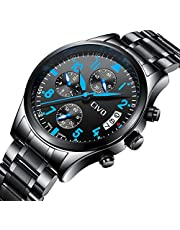 [チーヴォ]CIVO 腕時計 時計メンズ ステンレススチール防水 クロノグラフウオッチ 日付カレンダー アナログクオーツ腕時計 おしゃれ ビジネス カジュアル 男性腕時計
