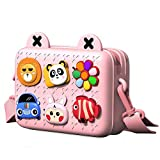 Richgv Kids Crossbody Bag Fashion Purse for Toddler Casual Shoulder Bag Mini Camera Bag Pink