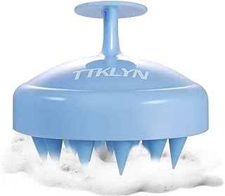 TTKLYN Hair Scalp Massager, Wet and Dry Shampoo Brush Scalp Massage Brush with Comfortable Silicone Hair Brush for Women, Men, Pet - Light Blue