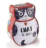 Jaques Menou Galletas de mantequilla francesas en una alcancía Lata de gato rojo - 1 x 120 Gramos