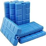 com-four 6er Pack Kühlakkus, je 200 ml, blau - für die Kühltasche (06 Stück - 200ml blau)
