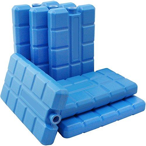 com-four® 6X Kühlakku in blau - Kühlelemente für Kühlbox und Kühltasche - Kühlakkus für Haushalt und Freizeit