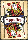 Ippolita: Taccuino A5 | Nome personalizzato Ippolita | Regalo di compleanno per moglie, mamma, sorella, figlia ... | Design: carte da gioco | 120 pagine a righe, piccolo formato A5 (14.8 x 21 cm)