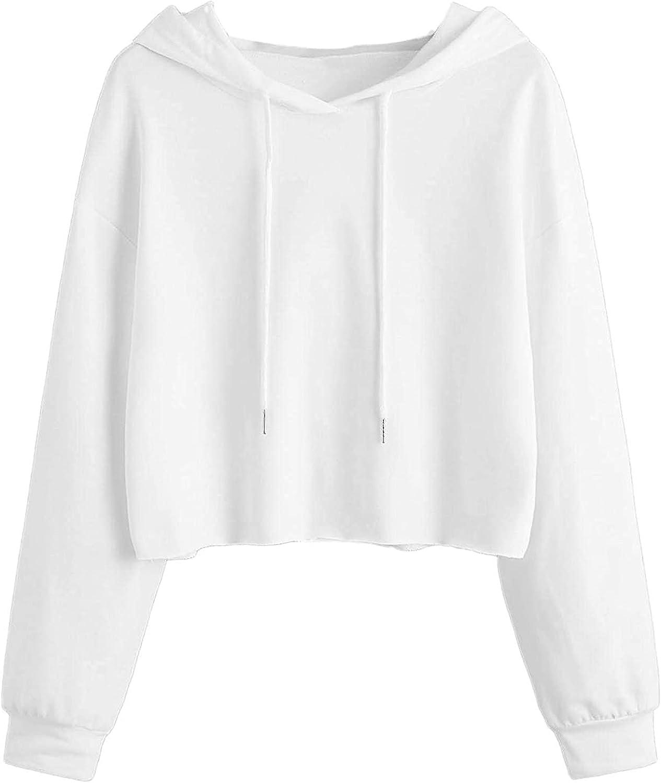 felwors Womens Crop Tops Hoodies, Womens Long Sleeve Tie Dye Workout Sweatshirt Hoodies Casual Loose Pullover Tops