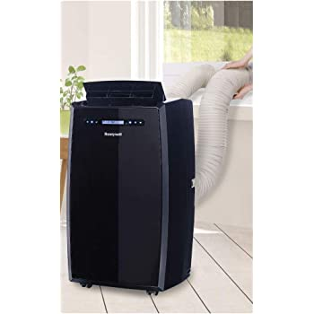 Honeywell (Black) MN14CCDBB Dual Hose Portable Air Conditioner with Dehumidifier, Fan Cools Rooms Up to 550 Sq.ft with Advanced LCD Display
