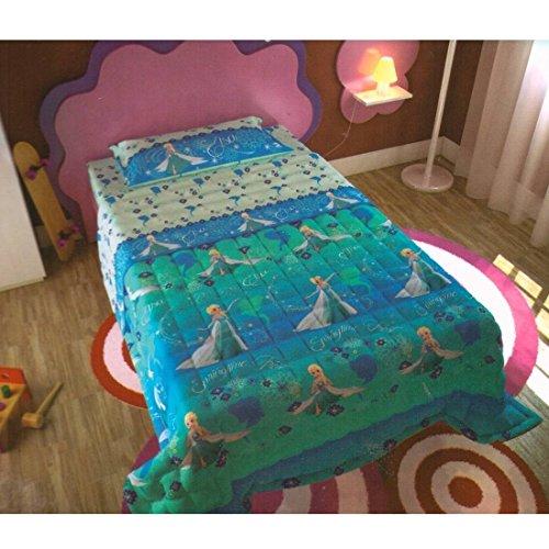 Frozen - Colcha de verano de microfibra para cama individual