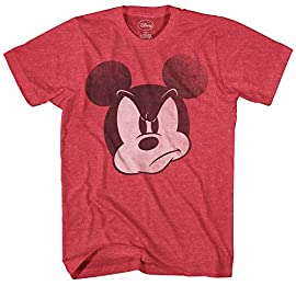 Officially licensed by Disney Featuring Mickey Mouse. The Heather Grey, Navy Heather, Heather Charcoal, Heather Red, Silver, Heather Green and Heather Light Blue color options of this shirt are standard 60% Cotton/40% Polyester blend. BIG AND TALL SI...