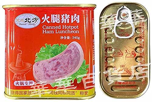 北方天泰 午餐肉【2点セット】ポークランチョンミート Canned Hotpot Ham Luncheon スパム 罐? 鍋の素