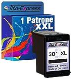 Tito-Express PlatinumSerie 1 Druckerpatrone kompatibel mit HP 301 XL Officejet 2620 2622 4630 Envy 4506 5530 5534 5535   Black 20ml XXL-Füllmenge