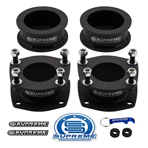 """Supreme Suspensions - Full Lift Kit for Jeep Commander XK and Grand Cherokee WK 2WD 4WD High Strength Steel Spacers   3"""" Front + 3"""" Rear Suspension Lift Kit"""