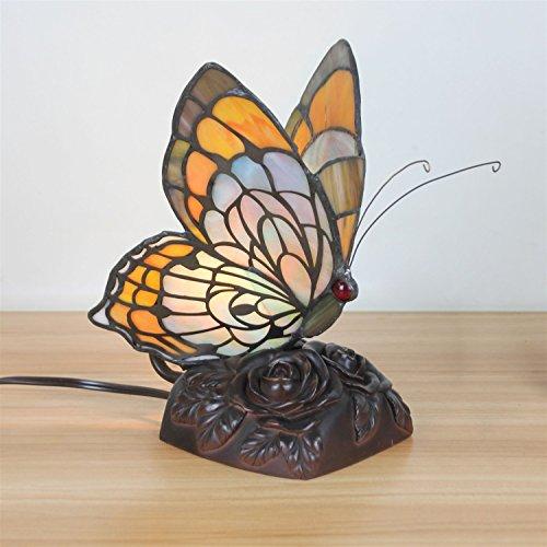 Gweat Pastoral Creativa de Estilo Europeo Lámpara de Mesa de Mariposa Lámpara de Noche para Niños - 20 cm