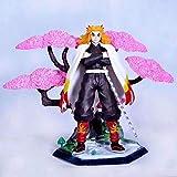 WISHVYQ Demon Slayer Modelo de animación Noria Rengoku Kyoujurou Cerezo Escena Figura Versión Escultura Decoración Estatua Muñeca Modelo Altura 20 cm