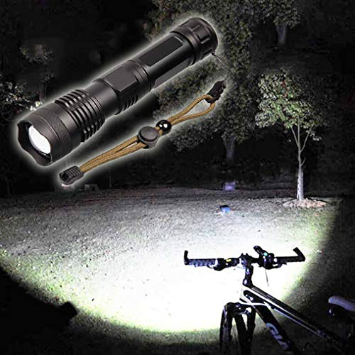 90000 Lumens Strong Light Flashlight USB Charging Super Bright Long-Range 5000 Multi-Function Power Display Zoom Night Fishing Outdoor 18650 Or 26650 Rechargeable Battery Tactical Flashlight
