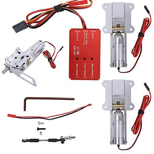 Zyyini RC insteekeenheid, zeer nauwkeurige elektrische insteeksysteem van metaallegering ER-120, geschikt voor 90-mm-120-mm-EDF-sproeiers of andere vliegtuigen met een gewicht van maximaal 10-12 kg