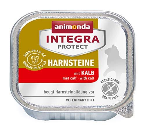 animonda Integra Protect Harnsteine, Spezial-Katzenfutter, Nassfutter zur Vorbeugung eines Harnweginfekts, mit Kalb , 16 x 100 g
