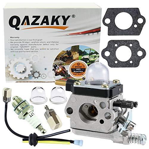 QAZAKY Kit de carburador para C1U-K17 C1U-K27A C1U-K27B C1U-K46 C1U-K54 C1U-K54A Echo String Trimmer Mantis Tiller 7222 7222E 7222M 7225 7230 7240 7920 7924 TC210 TC2100 LHD1700 HC1500 Cultivador