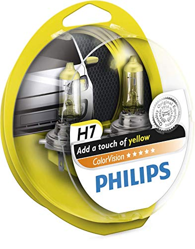 Philips PH CVH7Y Colorvision H7 12 V, Jaune, Set de 2