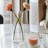UNISHOP Jarrón de Flores de Cristal, Florero de Vidrio de 26,5cm de Alto, Elegante y Sofisticado