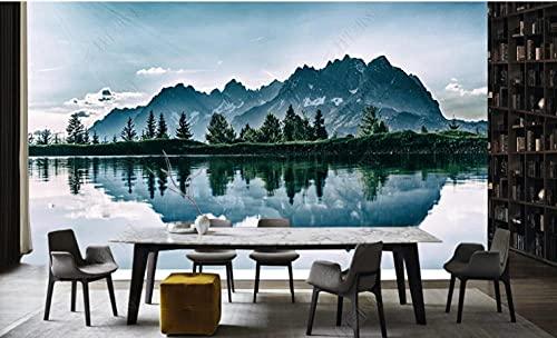 Fondo de pantalla de sofá de tv de tinta de tinta de pozo mural-250 * 175cm