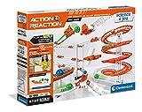 Clementoni- Action & Réaction-Effet Chaos-Jeu de Construction-Circuit de Billes créatif-Version française, fabriqué en Italie, 8 Ans et Plus, 52492, Multicolore