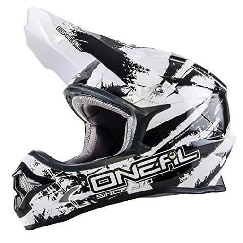O'NEAL 3 Series Motocross Enduro MTB Helm Shocker weiß/schwarz 2018 Oneal: Größe: XXL (63-64cm)