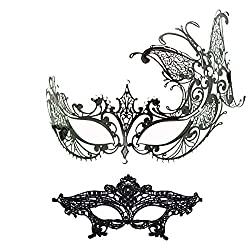 Ana Butterfly Masquerade Mask With Rhinestone Venetian Party