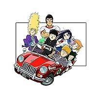 車 バイク 13cm x 12.9cmアニメビニールカーステッカーオートバイウィンドウトランクアニメ RVバンスクラッチ防止ウィンドウトラックデカール (Color Name : Style A)