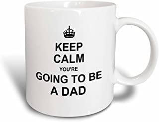 3dRose Mug_194458_3 Keep Calm Youre Going To Be A Dad Future Father Daddy Text Gift Magic Transforming Mug, 11-Ounce
