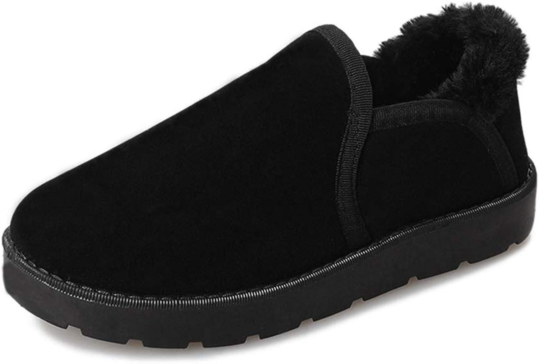 ASO-SLING Women's Winter Warm Plush Slippers Faux Suede Fleece Lined House Slipper Comfortable Memory Foam Flat Slides