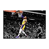 WALKKING WAYS Wall Canvas Art Paintings for Wall Decor?Lakers Lebron James Supper Slam Dunk Basketball Pictures Wall Decoration Prints and Posters (Not Framed,100x160 cm)