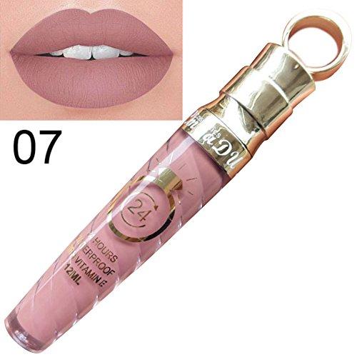 Allbesta Matte Liquid Lipstick Make-Up Lipgloss Lippenstift Wasserfest Langlebig (1 x 12 ml) (7#)