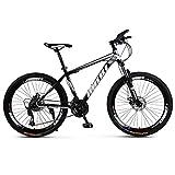 LILIS Bicicleta Montaña Bicicleta de montaña de la Bici Adulta de los Hombres del Camino de MTB Bicicletas Luz for Las Mujeres de 24 Pulgadas Ruedas Ajustables Velocidad Doble Freno de Disco