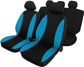 Rebeca Shop Coprisedili auto universali con copri volante e copri cintura in tinta con i sedili Blu chiaro A18