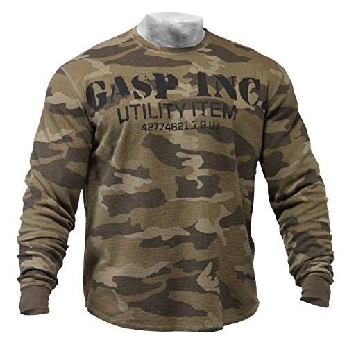 GASP Thermal Gym Sweater męska bluza termiczna zielony Thermal Gym Sweater (Green Camo) M