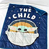 Star Wars The Mandalorian Baby Yoda Weighted Blanket + Wall Decal Stickers