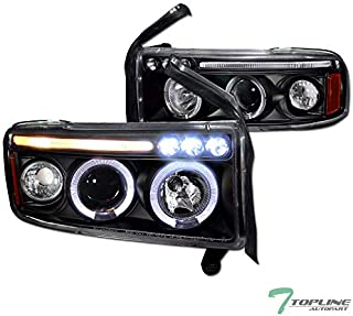 Topline Autopart Black Housing Halo LED Projector...