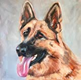 DIY 5D Diamante Pintura, feliz perro pastor aleman Diamond Painting Kit Pared Decoración Diamond Painting para Regalos de Cumpleanos