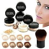 Tan pelle 8PC Bare Naked pelle minerale trucco set (Medium) by Ncinc. Pennello Kabuki +. Minerals makeup starter kit