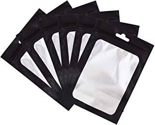 Sponsored Ad - 100 Pack Smell Proof Bags 4x6 inch, Odorless Mylar Bags with clear Window Heat Seal Pouch Food Safe Storage...