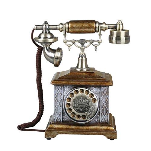 YSNUK Teléfono de Estilo Retro de la Oficina Creativa de la Moda casera del teléfono del Estilo Europeo Fijo teléfono Fijo del teléfono Antiguo Teléfono rotatorio (Color : B)