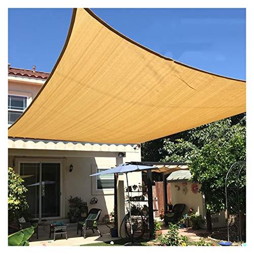 GHHZZQ Beige Vela De Sombra Solar Resistente Al Agua Patio con Jardín Al Aire Libre Protector Solar Marquesina para Toldo 90% De Bloqueo UV con Cuerda Libre, Varios Tamaños