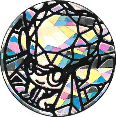 Mega Diancie Coin from The Pokemon Trading Card Game (Large Size) - Silver Cracked Ice Holofoil