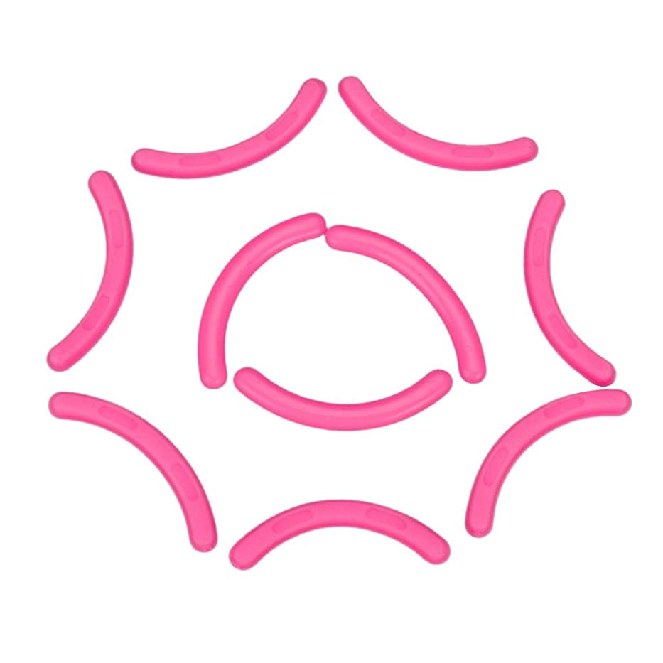 Falseアイラッシュエクステンションショーディスプレイスタンドホルダーのための10のシリコーンストリップのセット - ピンク