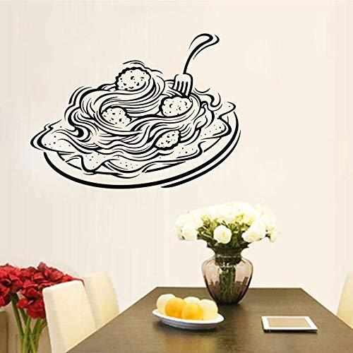 Calcomanía de pared de Pasta italiana, calcomanía de ventana para restaurante, tienda de comida, pegatina de Italia, pegatina de cocina de Pasta, Pizza, calcomanía DIY A7 57x42cm