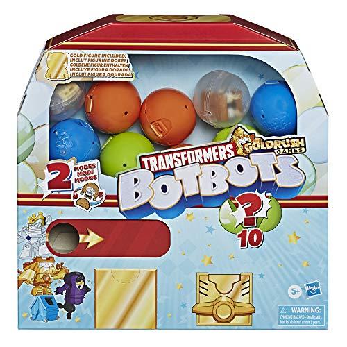 Transformers Toys BotBots Series 4 Surprise Unboxing: máquina de chicle – 5 figuras, 4 pegatinas, 1 figura de oro raro – para niños de 5 años en adelante por Hasbro