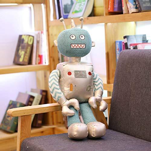 qingbaobao Kawaii Roboter Plüschtier Gefüllte Puppe Handwerk Baby Kinder Kinder Jungen Freund Spiel Geburtstagsgeschenk Wohnkultur Plushie 40Cm1Ocs