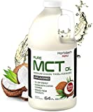Keto MCT Oil 64 oz | Huge Size & Unflavored| Blends with Coffee, Tea, and Juice Drinks | 100% Pure | Vegetarian & Non-GMO | by Horbaach
