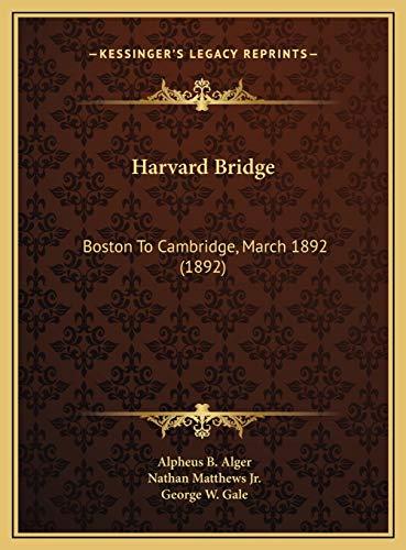 Harvard Bridge: Boston To Cambridge, March 1892 (1892)